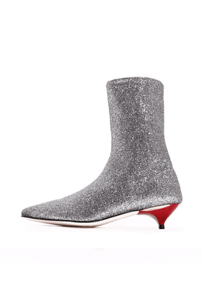 Ankle boot Silver Stretch