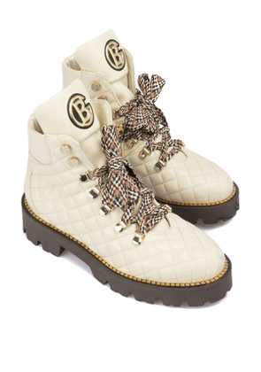 Baldinini Quilted leather booties