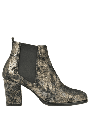 Metallic effect suede ankle boots