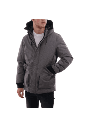 Scotch & Soda hooded quilted mid length jacket
