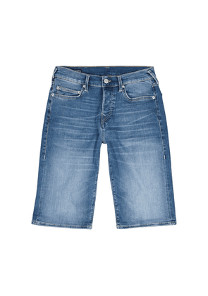 True Religion Rocco Blue Stretch-denim Shorts