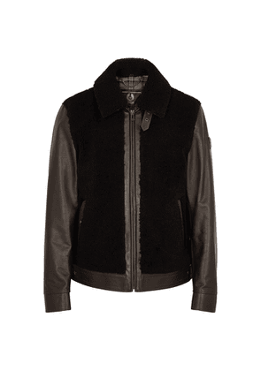 Belstaff Grizzly Shearling-panelled Leather Jacket
