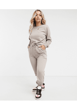 ASOS DESIGN tracksuit ultimate sweat / jogger with tie in organic cotton in stone-Brown