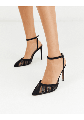 ASOS DESIGN Perfection cut out stiletto heels in black