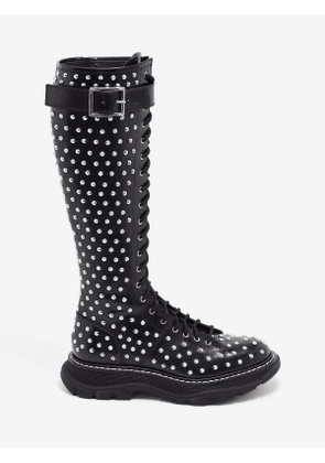 ALEXANDER MCQUEEN Tread Lace Up Boot - Item 595467WHQSG1090
