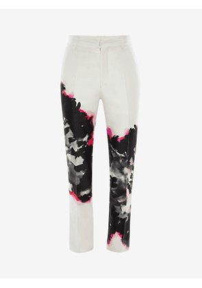 ALEXANDER MCQUEEN Ink Floral Trousers - Item 607673QOW309060