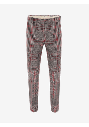 ALEXANDER MCQUEEN Patchwork Prince of Wales Trousers - Item 619170QPR531052