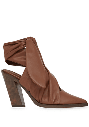 Burberry tied detail pumps - Brown