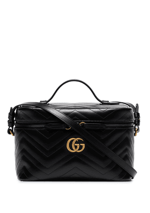 Gucci large GG Marmont leather cosmetics case - Black