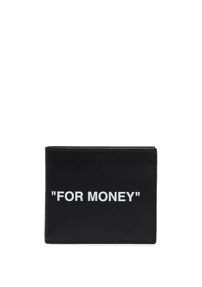 Off-White Quote bifold wallet - Black