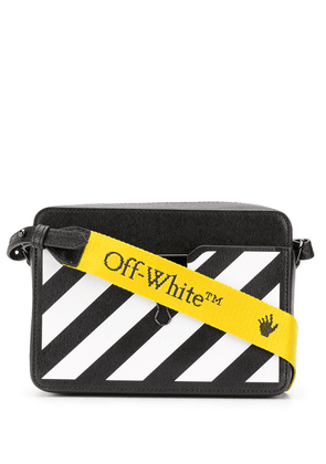 Off-White diagonal-stripe Binder-Clip camera bag - Black