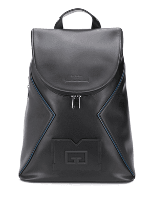 Givenchy embossed logo leather backpack - Black