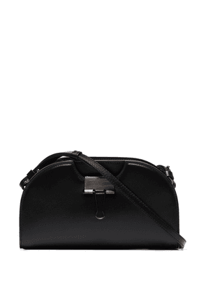 Off-White black Swiss leather cross body bag
