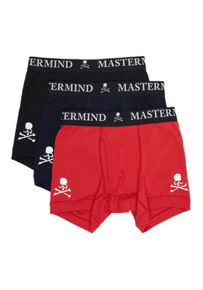 mastermind WORLD Three-Pack Multicolor Logo Boxer Briefs