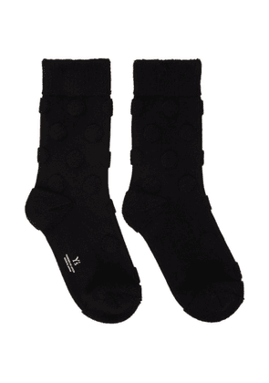 Ys Black Pile Dot Socks