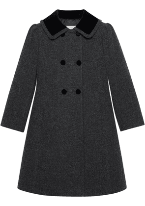 Gucci double-breasted wool peacoat - Grey