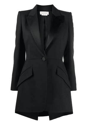 Alexander McQueen high-low blazer - Black