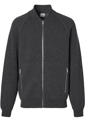 Burberry zip-up cashmere bomber jacket - Grey