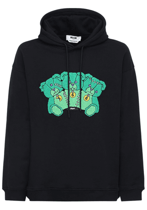Bears Patch Cotton Jersey Hoodie
