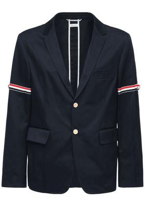 Deconstructed Stripe Cotton Twill Jacket