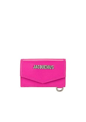 JACQUEMUS Le Porte Azur Neck Wallet in Pink - Pink. Size all.