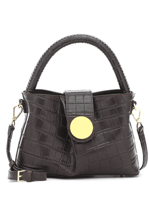 Malette leather shoulder bag