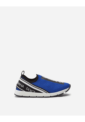 Dolce & Gabbana Shoes (24-38) - SORRENTO SLIP-ON SNEAKERS WITH LOGO TAPE BLUE