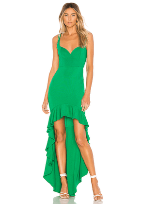 Lovers + Friends Harlow Gown in Green. Size L.
