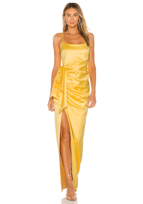 LIKELY Eloise Gown in Yellow. Size 10,4,6.