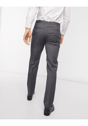 Tommy Hilfiger wool regular fit trousers-Grey