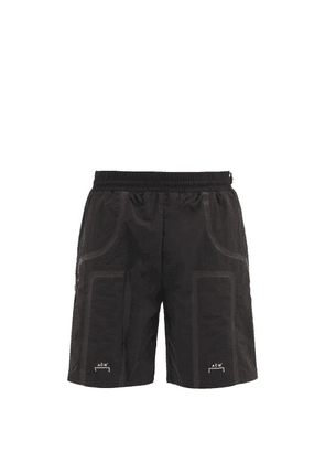 A-Cold-Wall* - Logo-print Shell Track Shorts - Mens - Black