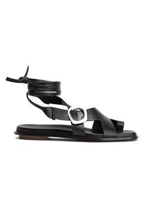 3.1 Phillip Lim Lace-up Buckle-embellished Leather Sandals Woman Black Size 38