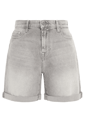7 For All Mankind Boy Faded Denim Shorts Woman Gray Size 25