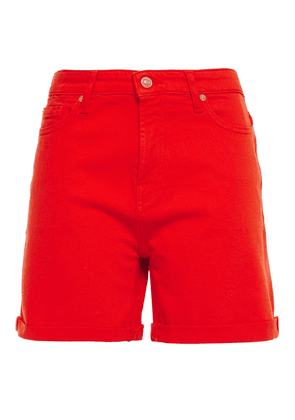 7 For All Mankind Boy Denim Shorts Woman Tomato red Size 26