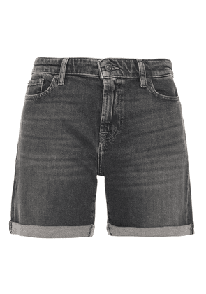 7 For All Mankind Faded Denim Shorts Woman Charcoal Size 31