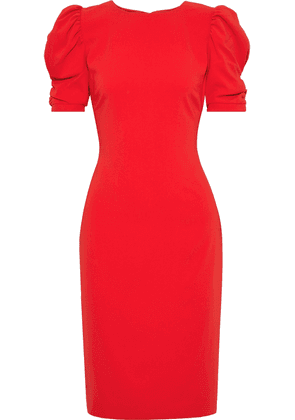 Badgley Mischka Ruched Stretch-crepe Dress Woman Red Size 8