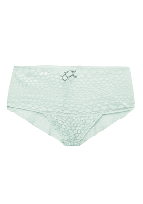 Cosabella Sweet Treat Stretch-lace Mid-rise Briefs Woman Mint Size M/L