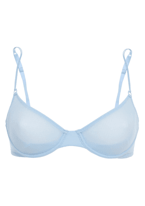 Cosabella Soire Stretch-mesh Underwired Bra Woman Light blue Size 32 C