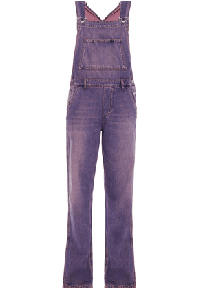 Ganni Faded Denim Overalls Woman Violet Size 36