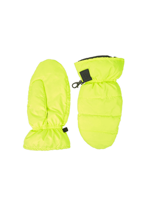 Bacon Neon Yellow Quilted Shell Mittens