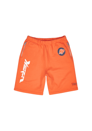 Heron Preston Techno Orange Printed Cotton Shorts