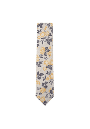 DUCHAMP LONDON Allium Floral Tie Yellow