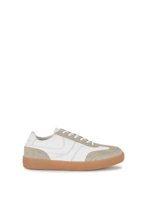 Dries Van Noten White Panelled Leather Sneakers