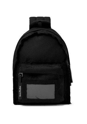 Acne Studios - Mini Leather-Trimmed Canvas Backpack - Men - Black