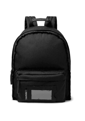 Acne Studios - Leather-Trimmed Canvas Backpack - Men - Black