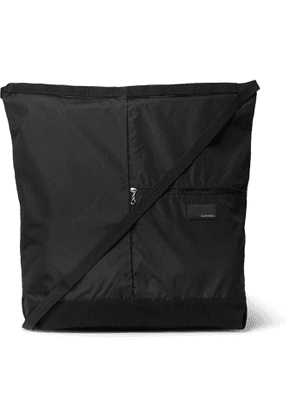 nanamica - Utility Large Ripstop and Microsuede Messenger Bag - Men - Black