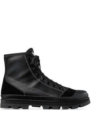Jimmy Choo Nord leather combat boots - Black