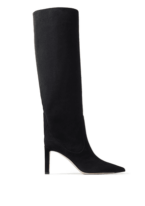 Jimmy Choo pointed toe leather boots - Black