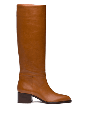 Prada pointed toe knee-high boots - Brown