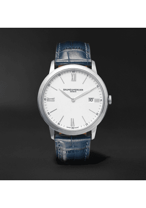Baume & Mercier - Classima 40mm Steel and Croc-Effect Leather Watch, Ref. No. M0A10508 - Men - White